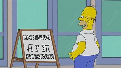 Homer Simpson - kawał matematyczny