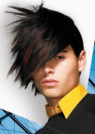 Ekstrawagancka męska fryzura z długimi włosami (japan style)