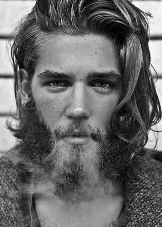 Długie Włosy Galeria Męskich Fryzur Facetem Jestem I O