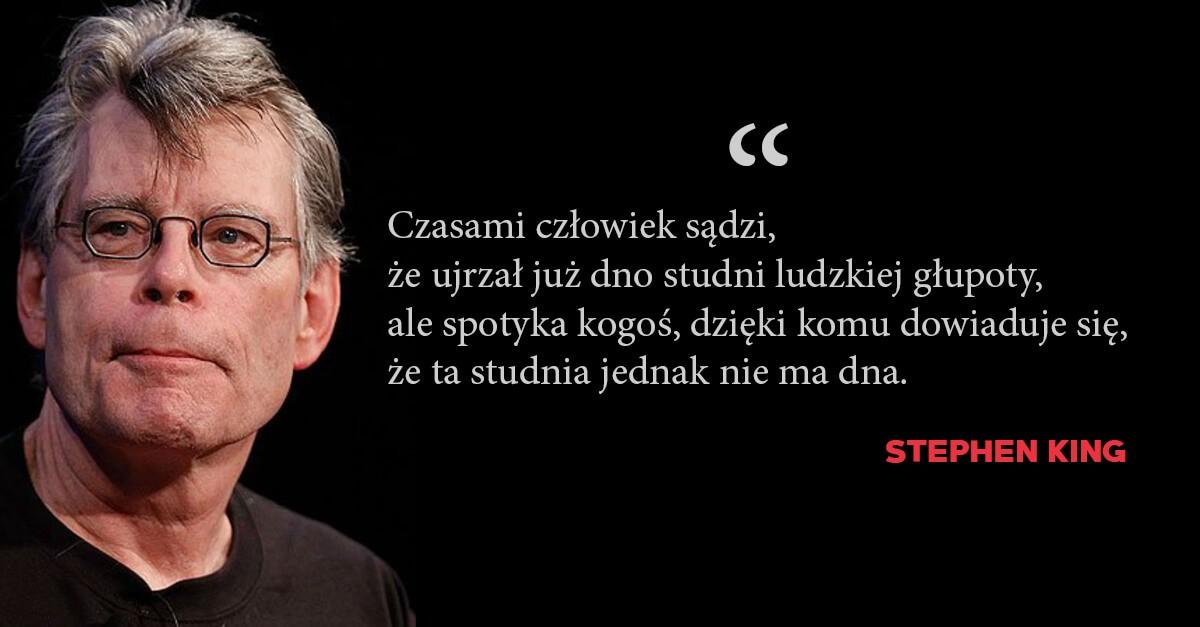 Stephen King cytat o głupocie