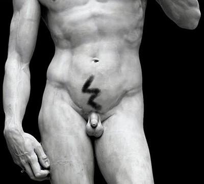Męska fryzura intymna - Zeus
