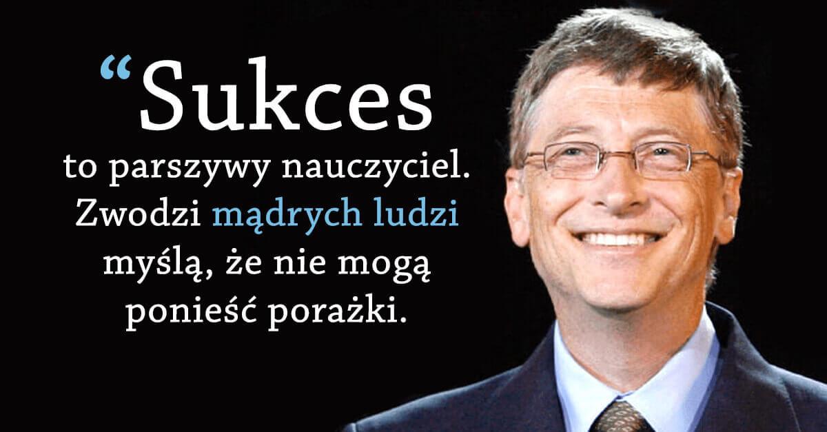 Bill Gates cytat o sukcesie