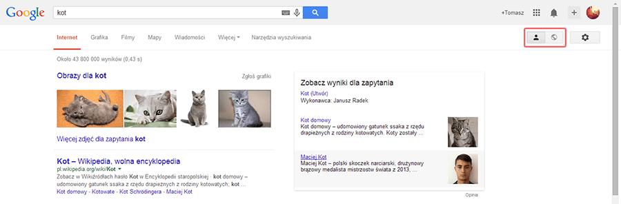google wyszukiwanie spolecznosciowe