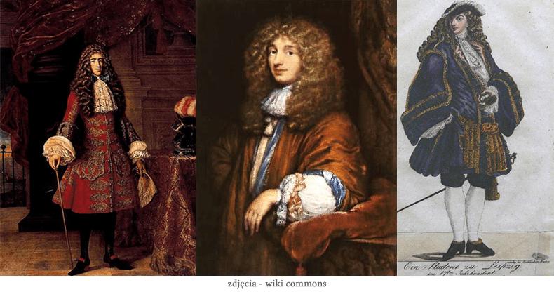moda meska w XVII wieku