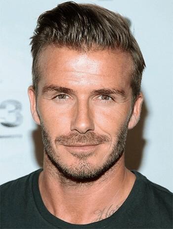 Zarost dla twarzy kwadratowej (David Beckham)
