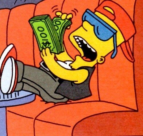 Bart Simpson i dolary