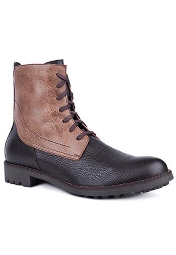Buty męskie ze skóry licowej 04