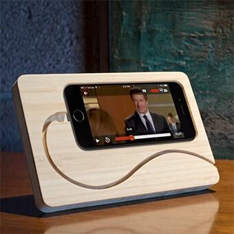 Dock do iPhone (drewno)