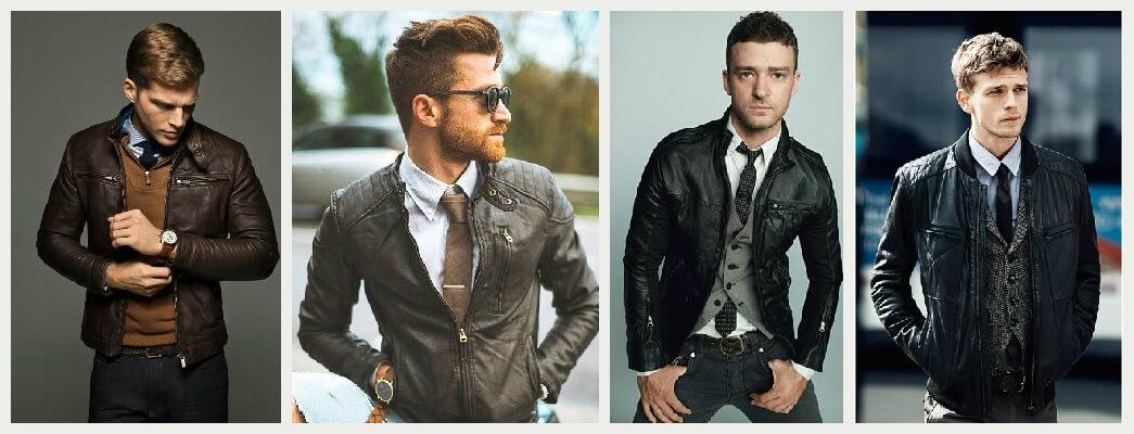 Eleganckie stylizacje z kurtką skórzaną