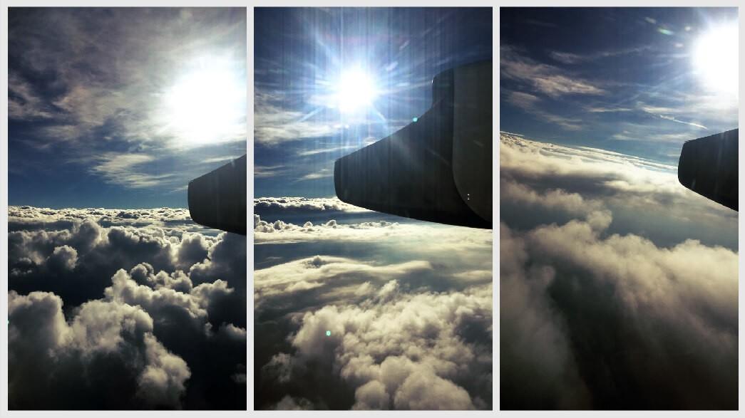Widok chmur z samolotu