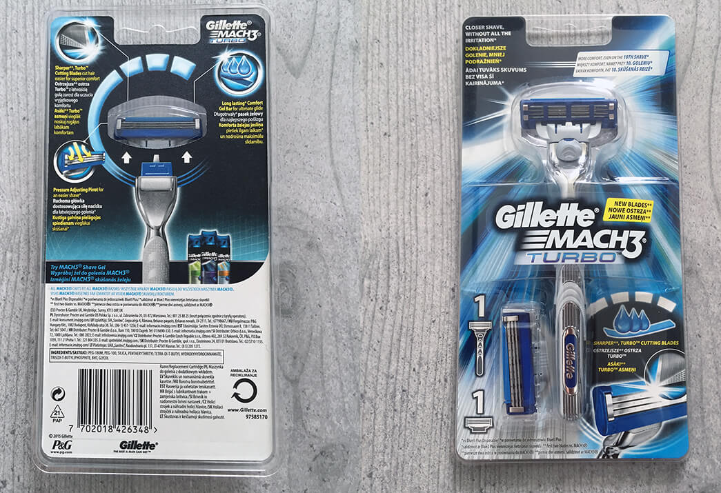 Gillette Mach3 Turbo w pudełku