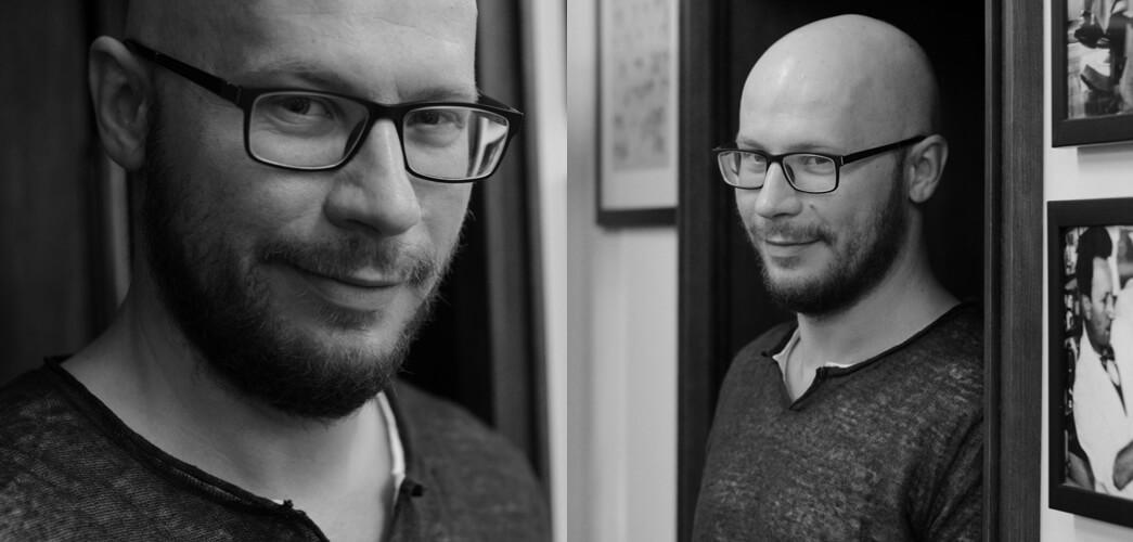 Tomasz Saweczko - przed wizytą w barbershopie Hermit