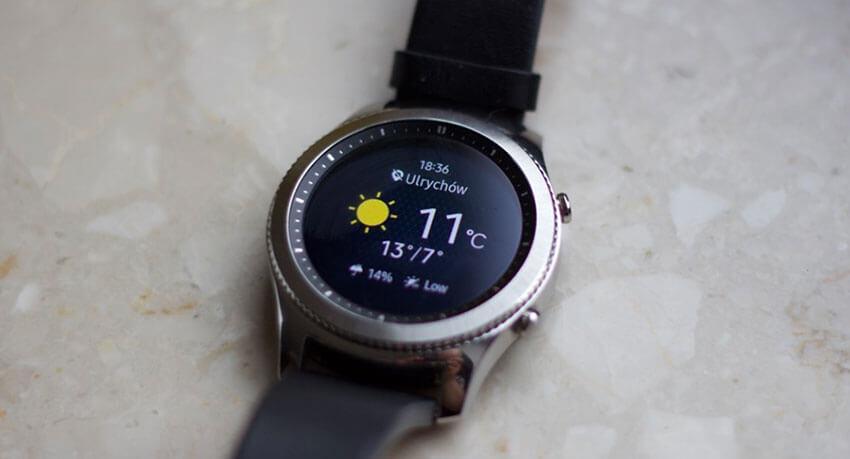 Samsung Gear S3 - pogoda