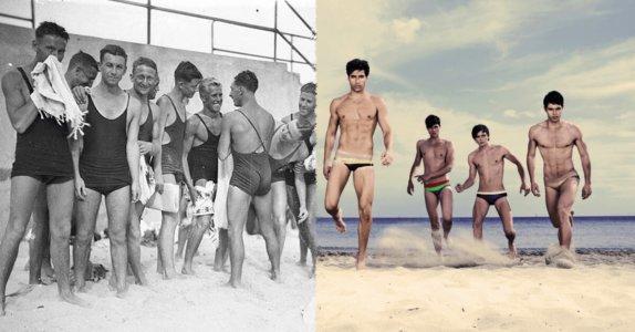 Moda męska plażowa - kiedyś i dziś
