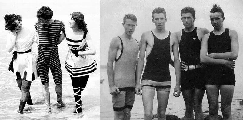 Moda plażowa na początku XX wieku