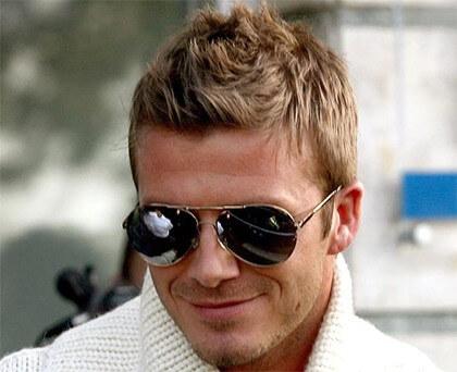 David Beckham w okularach przeciwsłonecznych Aviator