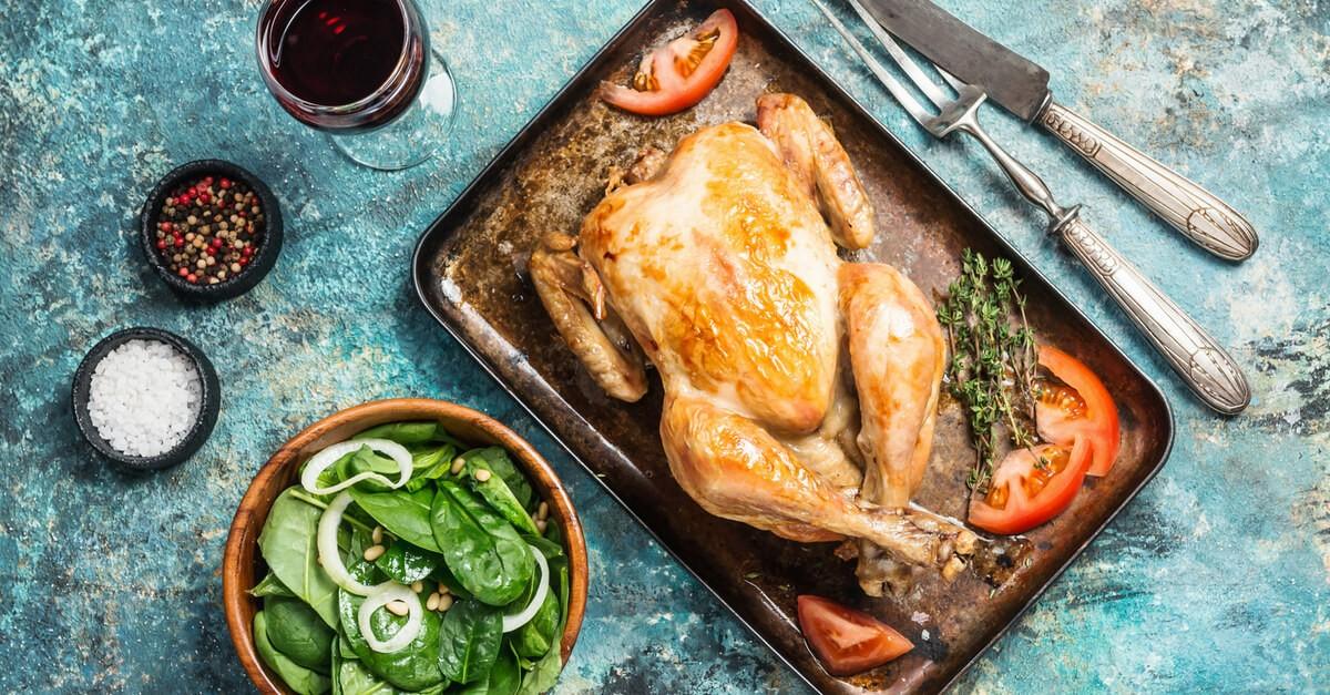 Kurczak pieczony - przykładowe źródło białka w diecie redukcyjnej